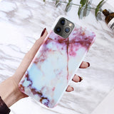 Coque iPhone 8 en Marbre Pourpre