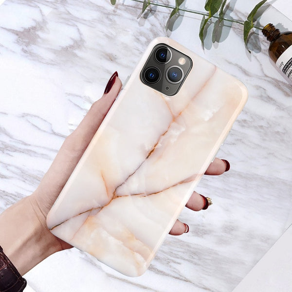 Coque iPhone XR en Marbre Or