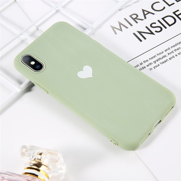 Coque iPhone 11 Verte Fluorescente Cœur