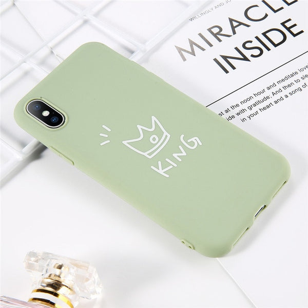 Coque iPhone 8 Verte Roi Fluorescent
