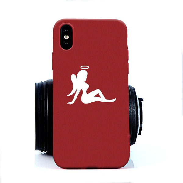 Coque iPhone 6/6s Ange Sexy Rouge
