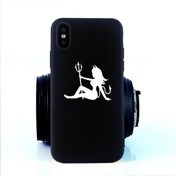 Coque iPhone 11 Diablesse Noir