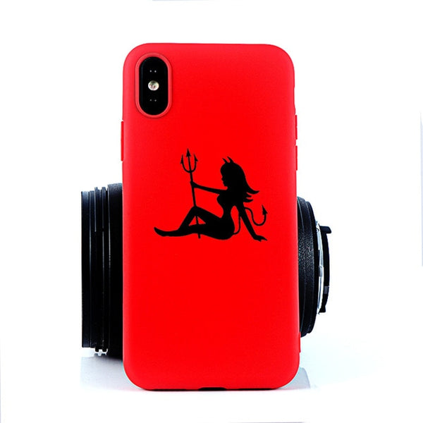 Coque iPhone 8 Diablesse Rouge Fluo