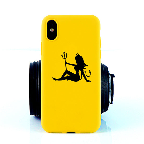 Coque iPhone 11 Diablesse Jaune Fluo