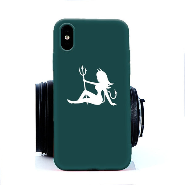 Coque iPhone XR Diablesse Turquoise