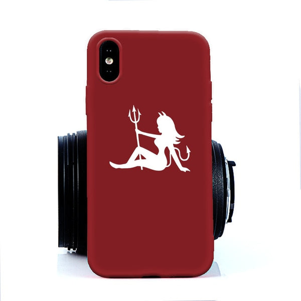 Coque iPhone 8 Diablesse Rouge