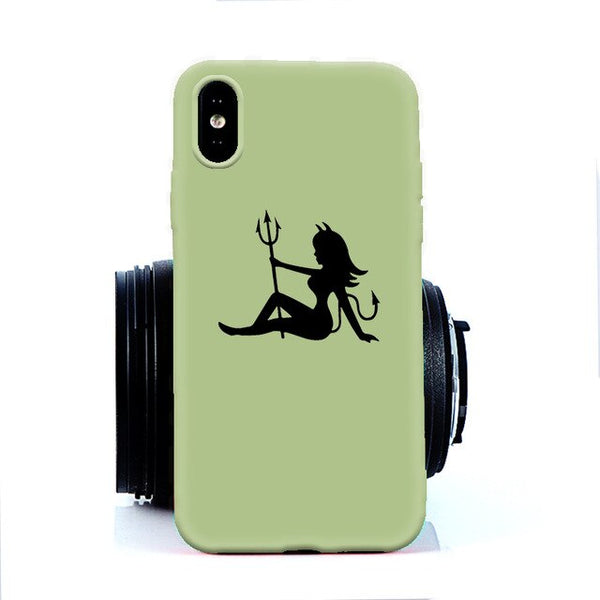 Coque iPhone XR Diablesse Vert Clair