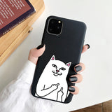 Coque iPhone 8 Souple Chat Malpolie