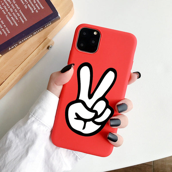 Coque iPhone XR Rouge Peace