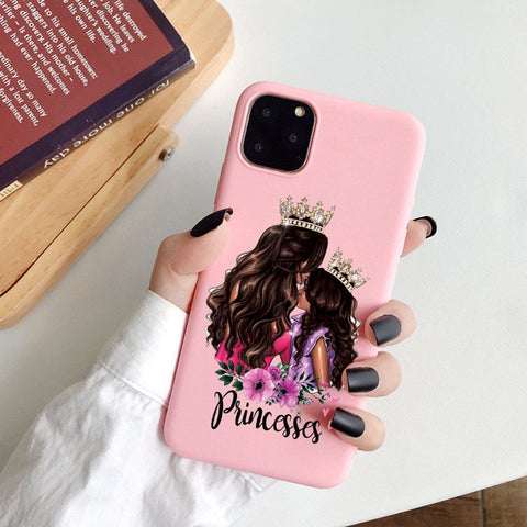 Coque iPhone 8 Princesse Mère Fille