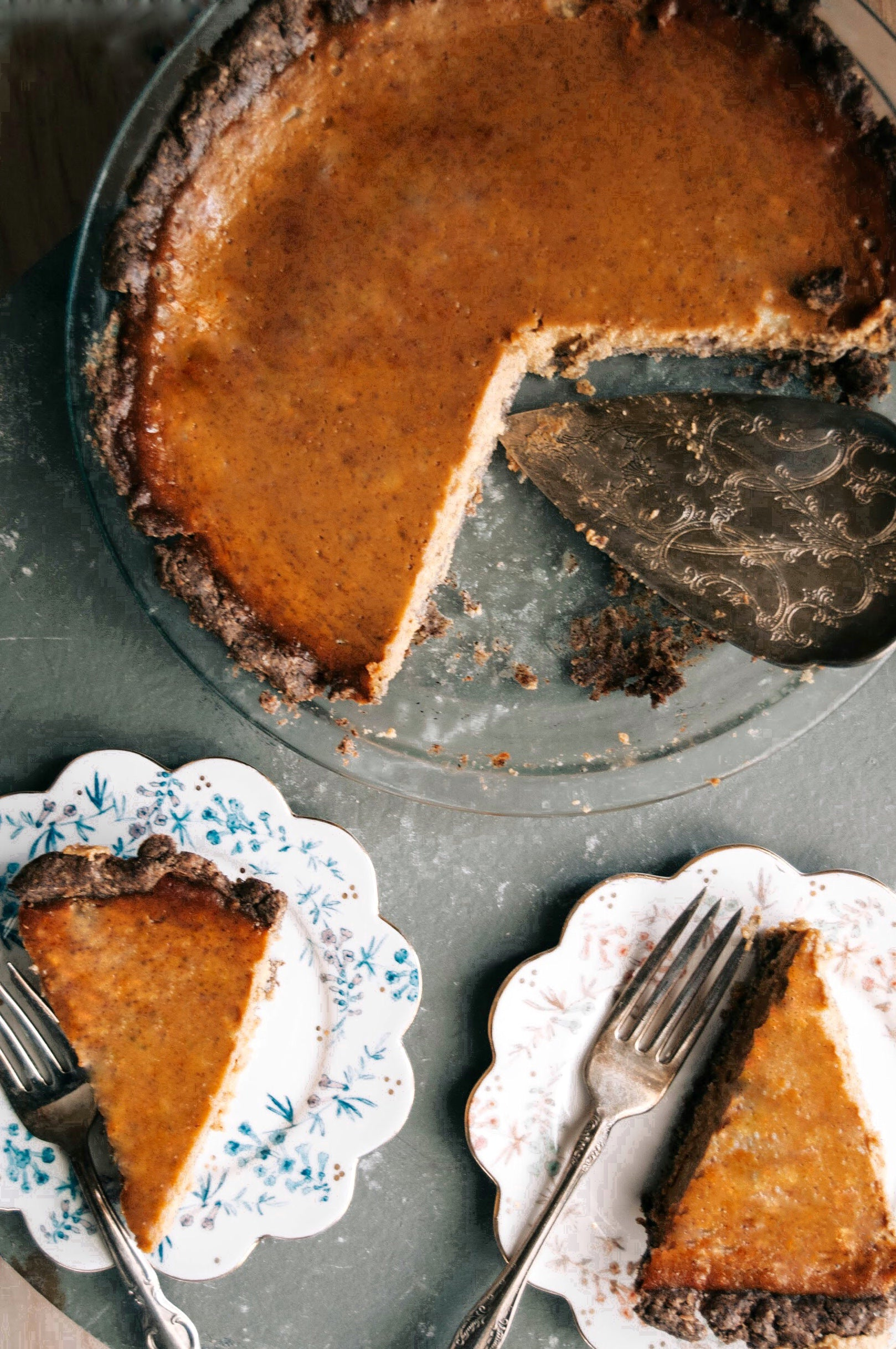 Sweet Potato, Brown Butter + Bourbon Pie