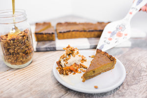 Butternut Squash Tart with Honey Tahini Graham Crust