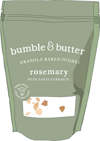 Rosemary Granola with Currants by bumble & butter gluten-free