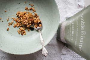 bumble & butter Rosemary Granola with Zante Currants, Baked with Grass-fed Ghee