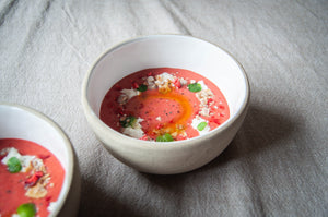 Strawberry Gazpacho Recipe with Burrata & Mint