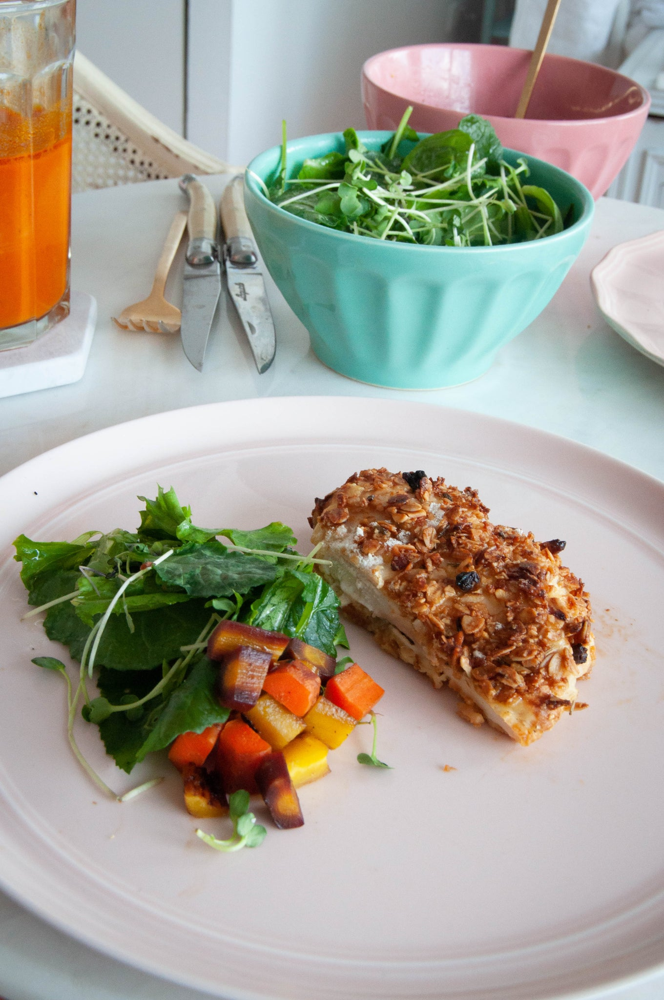 Rosemary Granola Crusted Chicken Recipe