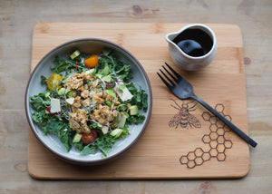 Rosemary Savory Granola on Healthy Kale Salad
