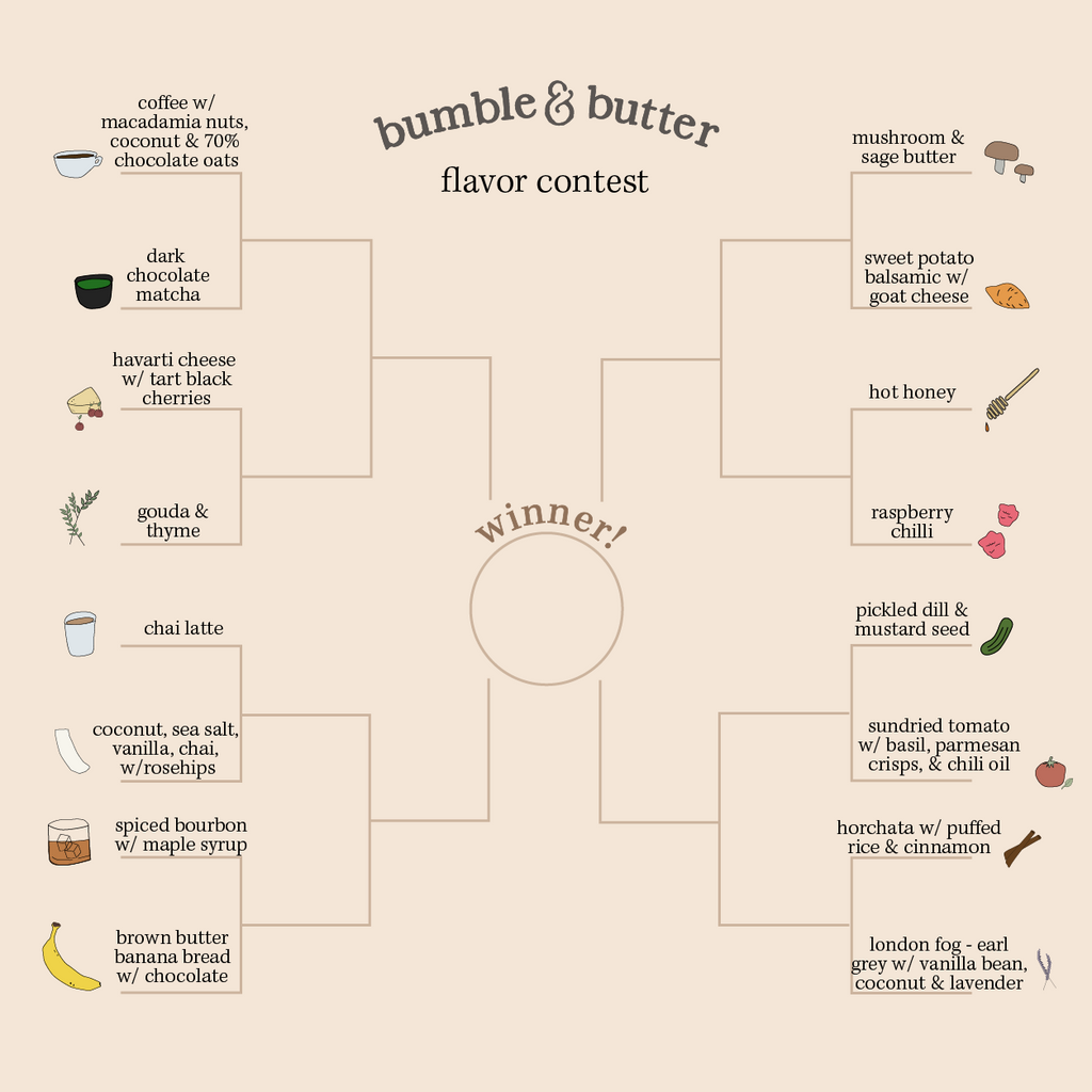 bumble & butter flavor bracket