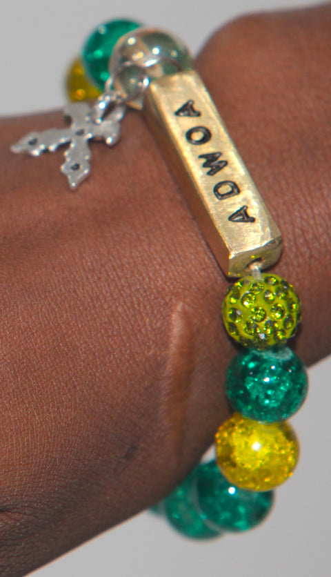 African Day Name Bead Bracelet For Men and Women