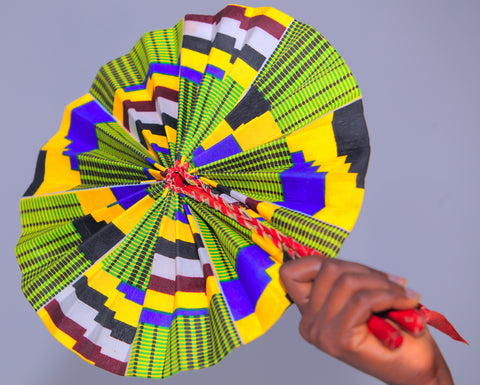 Ankara Covered Wedding/Church Fan