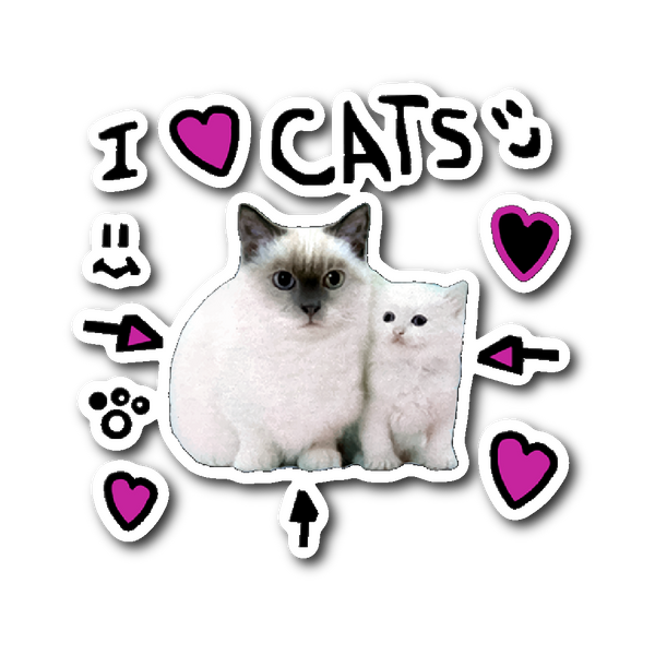 I Love Cats Sticker The Pals Store