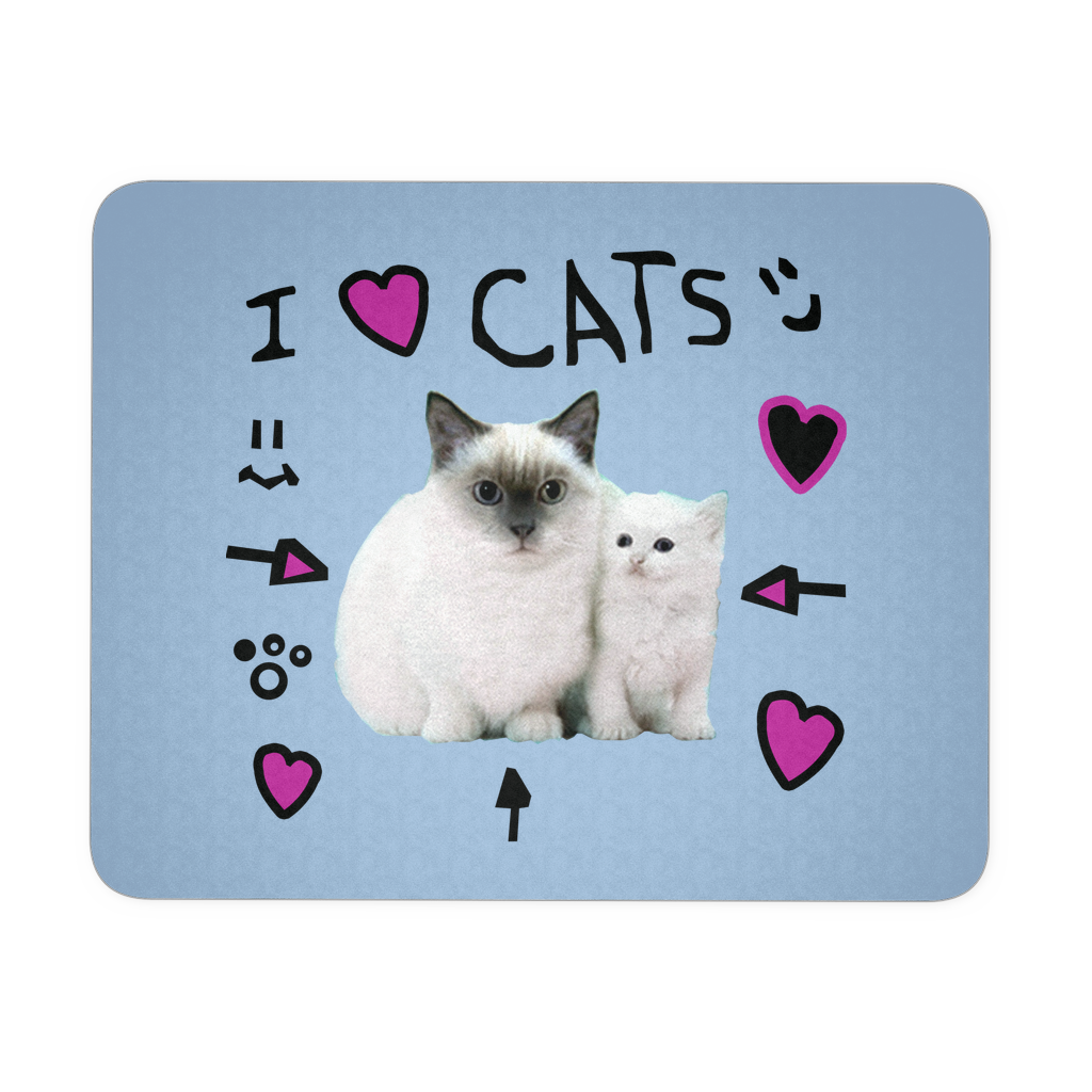 I Love Cats Mousepad