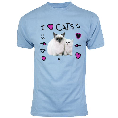 i love cats t shirt the pals store