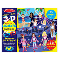 Fashions Easy to See 3-D Reusable Sticker Pads
