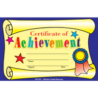 Certificate of Achievement Awards