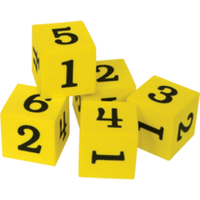 Foam Numbered Dice (1–6)
