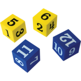 Foam Numbered Dice (1–12)