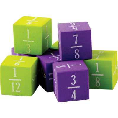 Foam Fractions Dice