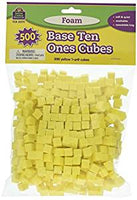 Foam Base Ten: Ones Cubes