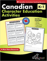 Canadian Character Education Activties Grades K - 1