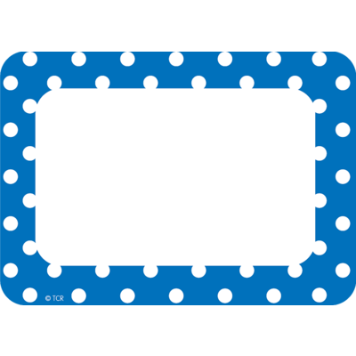 Blue Polka Dots Name Tags/Labels