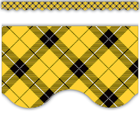 Yellow Plaid Scalloped Border Trim