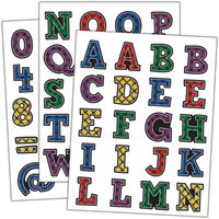 Plaid Alphabet Stickers
