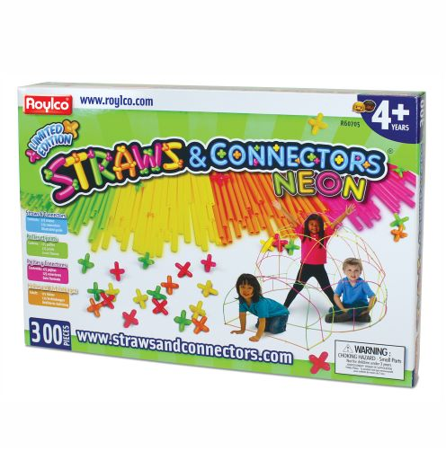 Straws & Connectors - Neon 300pcs