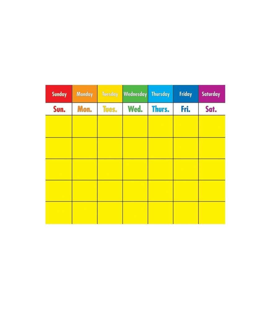 Colorful Calendar Chart