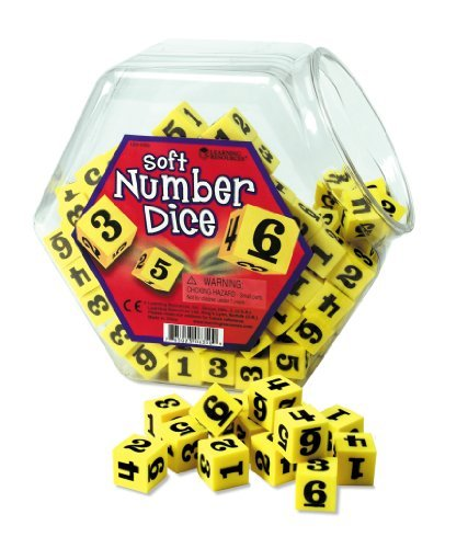 Soft Foam Number Dice- Individual