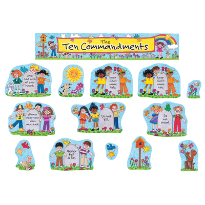 Children's Ten Commandments Bulletin Board