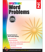 Spectrum Word Problems Workbook grd 2