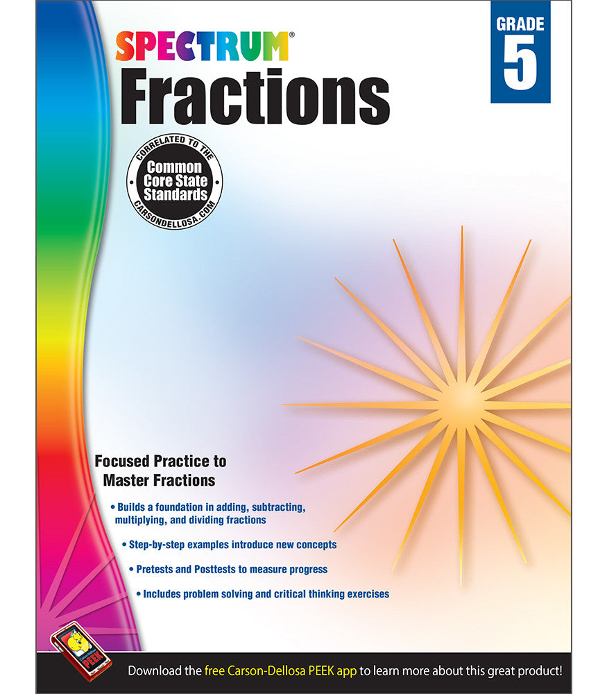 Spectrum Fractions Workbook grd 5