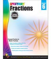 Spectrum Fractions Workbook grd 6