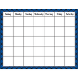 Blue Plaid Calendar