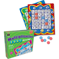 Multiplication: four-in-a-row Game