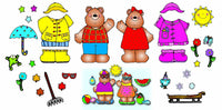 Mr. & Mrs. Weather Bear Bulletin Board Set
