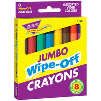 Jumbo Wipe-off Crayons -- 8 Pack