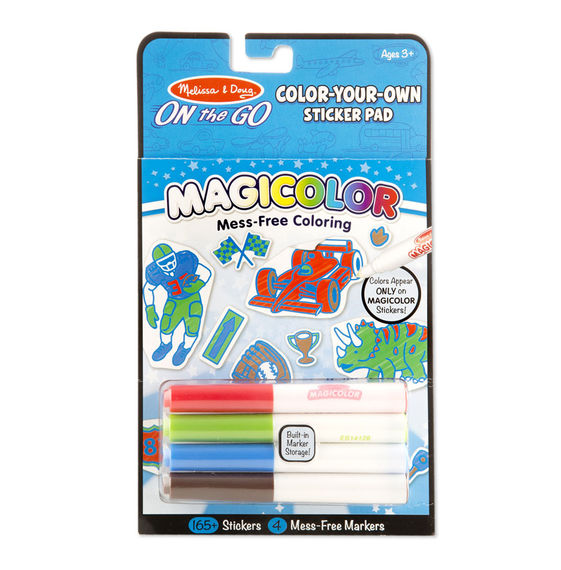 Color-Your-Own Sticker Pad - Vehicles, Sports & Dinosaurs