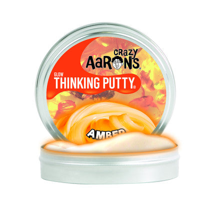 "Crazy Aaron's Thinking Putty -- Amber  3.5"" tin"